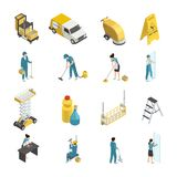 Professional Cleaning Isometric Icons vector illustration