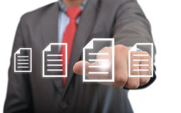 A Professional Clicking on Documents Stock Images