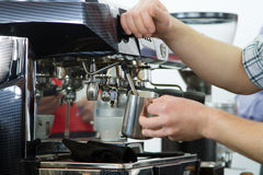 Professional coffee machine Stock Photography