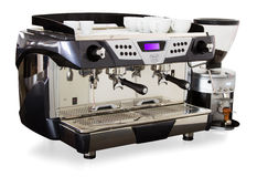 Professional coffee machine Royalty Free Stock Photos