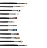 Professional collection of makeup brushes Stock Image