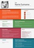 Professional colored resume cv design bookmarks template. Vector eps 10 vector illustration