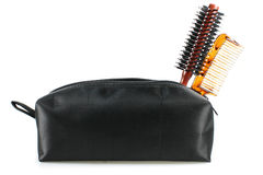 Professional comb set in bag Stock Image