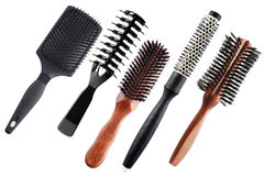 Professional combs isolated on white. Background Royalty Free Stock Photography