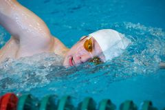 Professional competitive swimmer Stock Photos