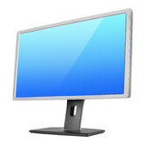 Professional computer monitor on white Royalty Free Stock Photos