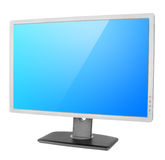 Professional computer monitor on white Stock Photography