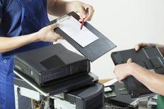 Professional computer service Stock Photo
