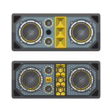 Professional concert tour array speakers colored flat style illu Stock Photography