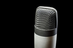 Professional condenser microphone with copy space Royalty Free Stock Photos