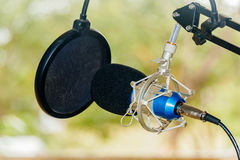 Professional condenser studio microphone, Musical Concept Royalty Free Stock Photo