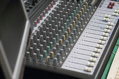 Professional console in recording studio Stock Image