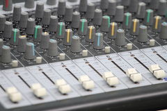 Professional console in recording studio Stock Images
