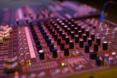 Professional console in recording studio Royalty Free Stock Images