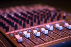 Professional console in recording studio Stock Photo