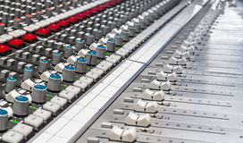 Professional consoler. Professional console in recording studio Stock Image