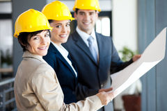 Professional construction managers Royalty Free Stock Image