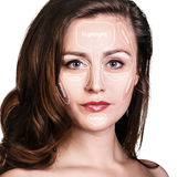 Professional contouring face make-up. Stock Photography