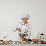 Professional cook. Cooking bakery Royalty Free Stock Photography