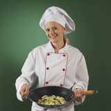 Professional cook. Cooking bakery Stock Image