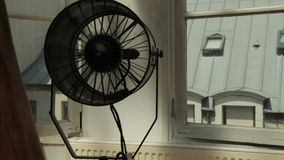 Professional cooling fan wider shot stock video footage