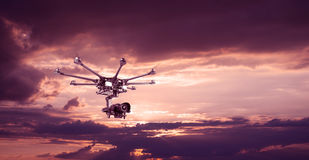 The professional copter Royalty Free Stock Photo