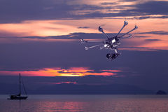 The professional copter Stock Photography