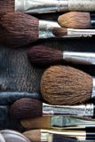 Professional cosmetic brush Stock Images