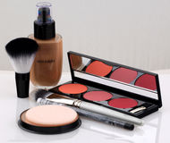 Professional cosmetics make up kit Royalty Free Stock Photography