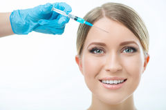 Professional cosmetologist making beauty injections Royalty Free Stock Photography