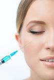 Professional cosmetologist making beauty injections Stock Photography