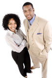 Professional couple. A professional african american couple poses for the camera Royalty Free Stock Photos