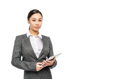 Professional Customer Service Woman with Digital Tablet Stock Photography