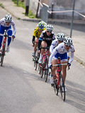 Professional cycling for junior women in Darlowo Stock Photo