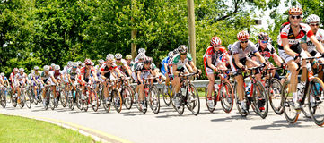 Professional Cycling Race Stock Image