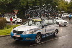 Professional Cycling Support Vehicle Stock Images