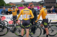 Professional cycling team Stock Images