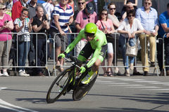 Professional cyclist during the prologue of the Tour of Giro Giro d'Italia Royalty Free Stock Photography