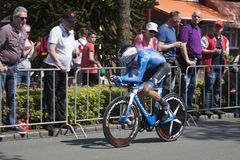 Professional cyclist during the prologue of the Tour of Giro Giro d'Italia Royalty Free Stock Photos