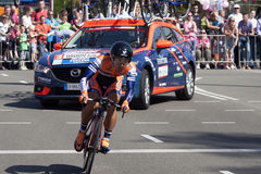 Professional cyclist during the prologue of the Tour of Giro Giro d'Italia Stock Photography