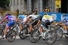 Professional cyclists Royalty Free Stock Photos