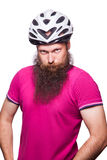 Professional cyclists wear a helmet for his safety. Royalty Free Stock Photography