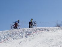professional cyklistparberg Royaltyfri Fotografi
