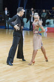 Professional Dance Couple of Kosyakov Egor and Navoychik Anna Performs Adults Latin-American Program Stock Image