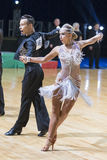 Professional Dance Couple of Kosyakov Egor and Navoychik Anna Performs Adults Latin-American Program Stock Images