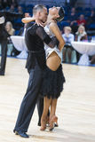 Professional Dance Couple of Kuzin Evgeny and Fedoseeva Anastasia Performs Adults Latin-American Program Stock Photos