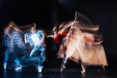 Professional dance partners showing a performance Royalty Free Stock Images