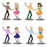 Professional dancer couple dancing Royalty Free Stock Photo