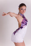Professional dancer girl in motion Stock Images