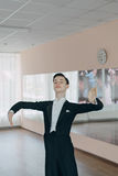 Professional dancer trained at the mirror Stock Image